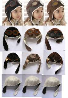 1pcs 1 5T pilot winter children baby toddler hat new