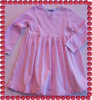 NWOT Baby Girl TOMMY HILFIGER Knit Dress Pink White
