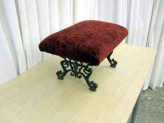 Antique Cast Iron Footstool Bedside Step Art Deco 1800s