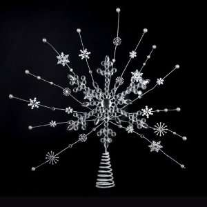 Pack of 6 Ice Palace Silver Starburst and Snowflake