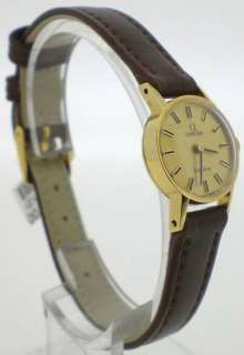 Omega Geneve Pre Owned Ladies Classic 9ct Gold Watch