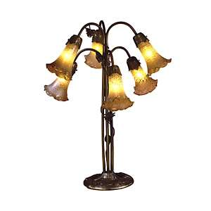 Dale Tiffany Luster Gold Lily Table Lamp