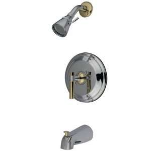 York Single Handle Tub and Shower Faucet, Polished Chrome and Polish