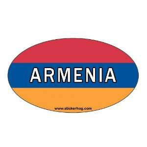 Armenia Country Flag Euro Oval bumper sticker decal Armenian Flag