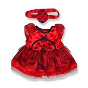 Lady Bug Costume Outfit Teddy Bear Clothes Fit 14   18 Build a bear