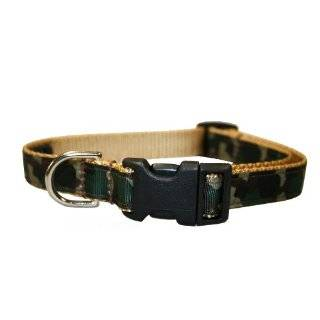 Bison Pet Real Tree Hardwoods Adjustable Nylon Dog Collar