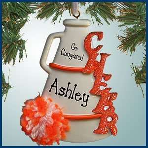 Personalized Christmas Ornaments   Cheerleader Megaphone