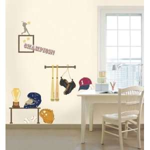 Easy Instant Decoration Wall Sticker Decal   baseball play
