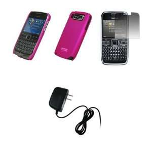 EMPIRE   Nokia E72   Premium Hot Pink Rubberized Snap On