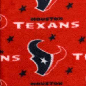 Houston Texans Red FLEECE Fabric (By the Yard) Arts, Crafts & Sewing