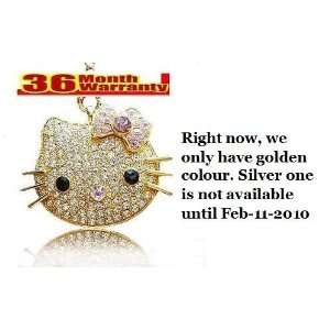 Crystal USB Flash Drive Kitty Shinning Shape Usb Memory 4g