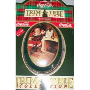 Coca Cola Collectible Tin Santa Christmas Ornament Style