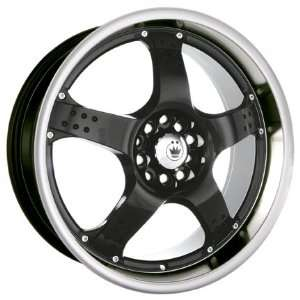 18x7.5 Konig Freefall (Gloss Black w/ Machined Lip) Wheels/Rims 4x100
