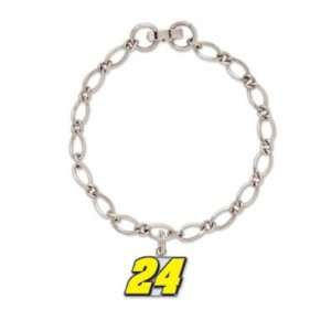 Jeff Gordon NASCAR Official Logo Charm Bracelet Sports