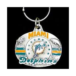 Miami Dolphins NFL Pewter Key Ring
