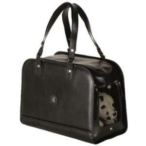 Rosanna Italian Leather Pet Carrier   Black  Kitchen