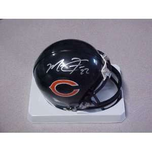 Hand Signed Autographed Chicago Bears Riddell Football Mini Helmet