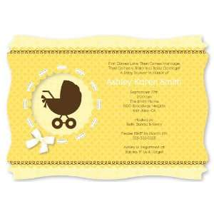 Personalized Baby Shower Invitations With Squiggle Shape Toys & Games