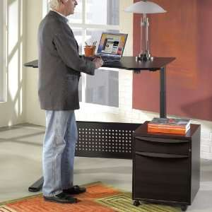 Sit and Stand Height Adjustable Desk   Espresso Office
