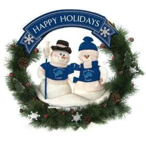 Detroit Lions NFL Snowman Christmas Wreath (20) Sports