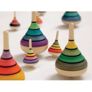 Wooden Spinning Top   Harlequin Toys & Games
