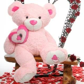 30 Big Pink Lovable Huggable Valentines Day Teddy Bear by Giant Teddy