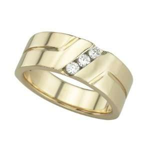 14K Yellow Gold Mens Diamond Ring DivaDiamonds Jewelry