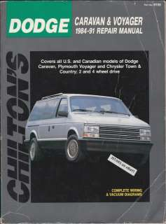 1984   1991 DODGE CARAVAN, PLYMOUTH VOYAGER, CHRYSLER T&C VAN REPAIR