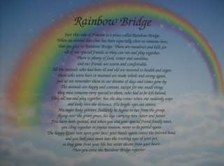 print we can create the perfect gift the beautiful rainbow bridge poem
