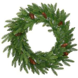 Spruce With Cones Artificial Christmas Wreath   Unlit
