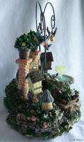 New Musical Garden Sculpture Bird House Butterfly Flower