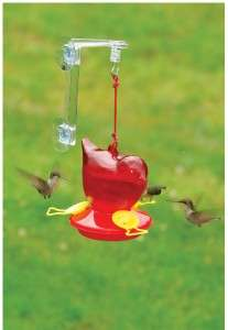 NEW FLITELINE RED BIRD WINDOW HUMMINGBIRD FEEDER