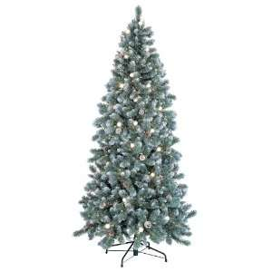 4.5 Pre Lit Glacier Fir Slim Artificial Christmas Tree