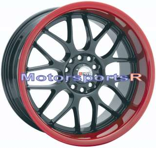 17 XXR 006 Rims Wheels Black Red Lip Mitsubishi Lancer